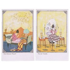Mela Koehler Art Nouveau Postcard Set of Six