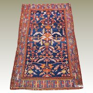 Semi Antique Persian Hand Knotted Hamadan Wool Carpet