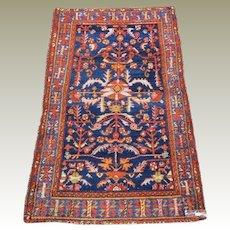 Semi Antique Persian Hand Knotted Hamadan Wool Carpet