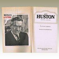 John Huston Autograph CoA