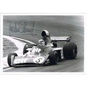 Jackie Stewart Formula One Driver Autograph on Photo COA