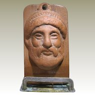 Ancient Greek Terracotta Head of Man on Stand