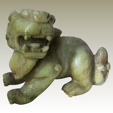 Semi-antique Chinese Jade Mythical Creature Qilin