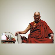 Dalai Lama Autograph on 12 x 8 Photo. CoA