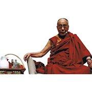 Dalai Lama Autograph on 12 x 8 Photo. CoA