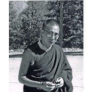 Early Dalai Lama Photo with Autograph CoA