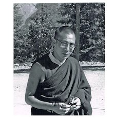 Early Dalai Lama Photo with Autograph CoA
