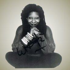 Whoopi Goldberg Autograph on Photo CoA