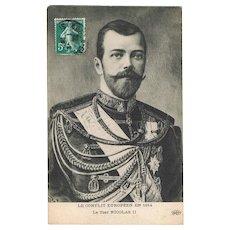 Tsar Nicholas II Postcard 1914
