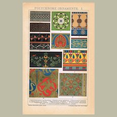 Polychrome Ornaments 2 Lithographs from 1901