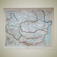 Romania, Bulgaria and Serbia, Map from 1901