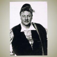 Walter Slezak Autograph on Photo from Slezak Museum 9 x 5