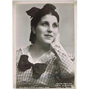 Soprano Licia Albanese Autograph on 7 x 10 Photo CoA