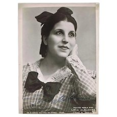 Soprano Licia Albanese Autograph on 7 x 10 Photo CoA