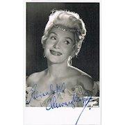 Elisabeth Schwarzkopf Autograph on Photo CoA