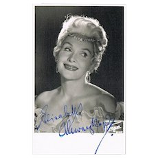 Elisabeth Schwarzkopf Autograph on Photo CoA
