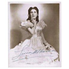 Licia Albanese Autograph on Large Photo CoA