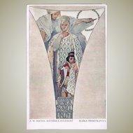 Alphons Mucha Postcard Motherly Wisdom