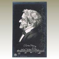Memento Mori Postcard Richard Wagner