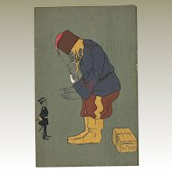 Russo Japanese Mocking Postcard Lithographed