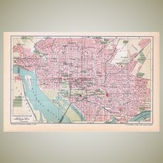 Antique Map Washington from 1900
