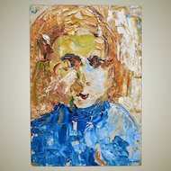 Xue Mingde Portrait Painting of Danish Student 1979