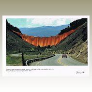 Christo signed Photo Valley Curtain 1972 CoA