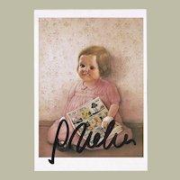 Gottfried Helnwein Autograph on Artist Postcard CoA