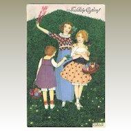 Mela Koehler Scarce Art Nouveau, Easter Postcard