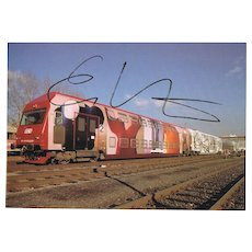 Erwin Wurm Autograph on Artist Photo CoA
