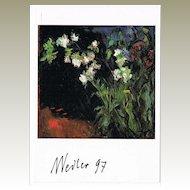 Max Weiler Autograph on Artist Postcard CoA
