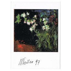 Max Weiler Autograph on Artist Postcard CoA - Red Tag Sale Item