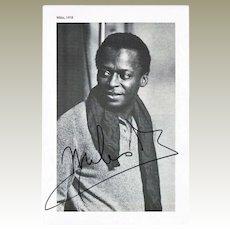 Miles Davis Autograph on 1958 Photo Print CoA