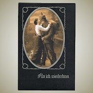 World War One Postcard When I returned Home