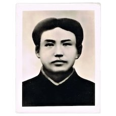 Cultural Revolution China Authentic Photo Young Mao Portrait