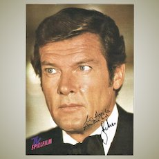 Roger Moore Autograph CoA