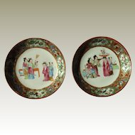 Pair of China Canton plates Pre 1880