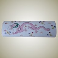 Decorative Chinese Porcelain Arm Rest with Dragon