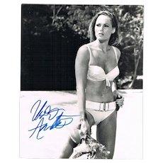Ursula Andress Autograph 8 x 10 CoA