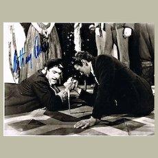 Anthony Quinn Autograph on Large Movie Still CoA