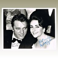 Elizabeth Taylor and Richard Burton Autographs CoA 10 x 8