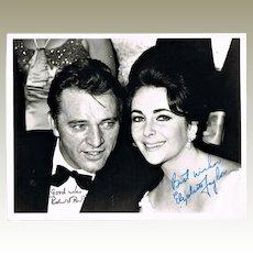 Elizabeth Taylor and Richard Burton Autographs CoA 10 x 8