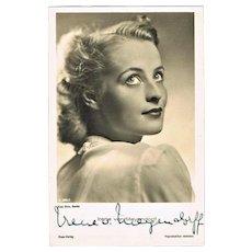 Irene von von Meyendorff Autograph. CoA. WW2