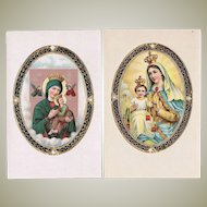 Two old Postcards with Mother Mary Motifs