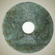 Archaic Chinese Jade Bi, 10 inches