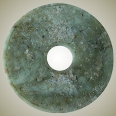 Archaic Chinese Jade Bi, 10 inches