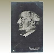 Richard Wagner Memento Mori Postcard with Opera Scenes