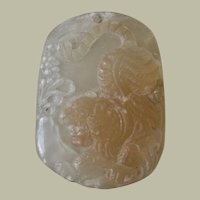 Desirable Chinese Hard Stone Pendant with Tiger