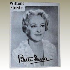 Bette Davis Autograph, unique, CoA