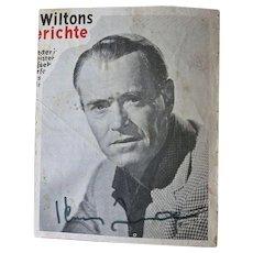 Henry Fonda Autograph, unique, CoA